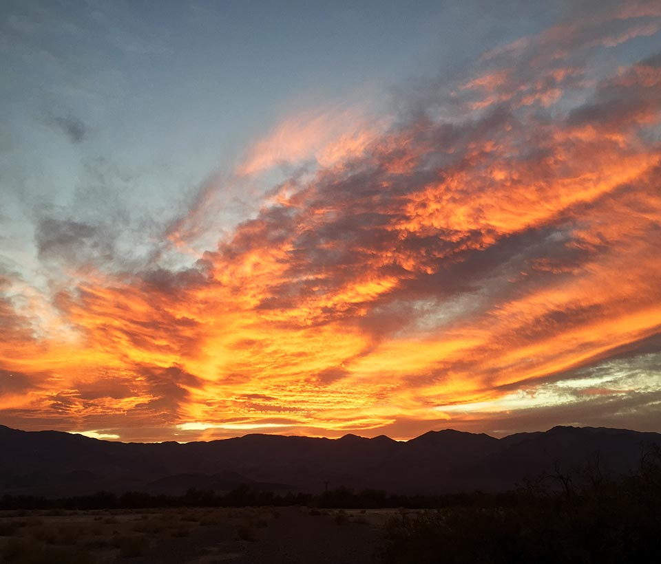 Death Valley Sunset at Furnace Creek