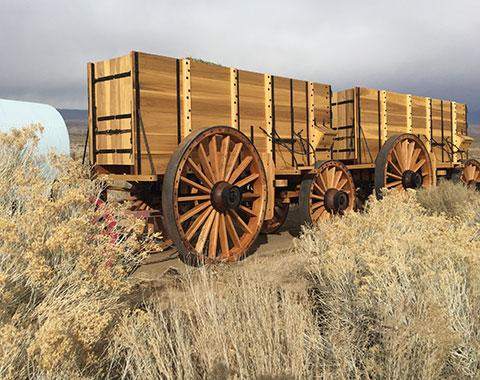 Borax Twenty Mule Team® of Death Valley exact replica wagons.