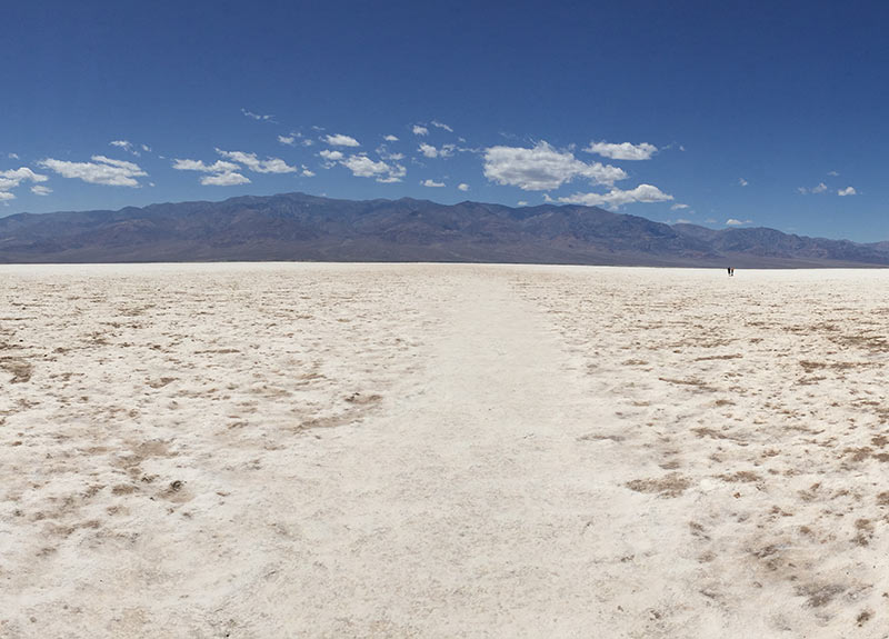 Badwater Basin, -282 ft. below sea level. Death Valley National Park.