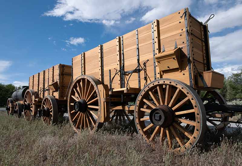 Death Valley Conservancy - Borax Twenty Mule Team® of Death Valley exact replica wagons.